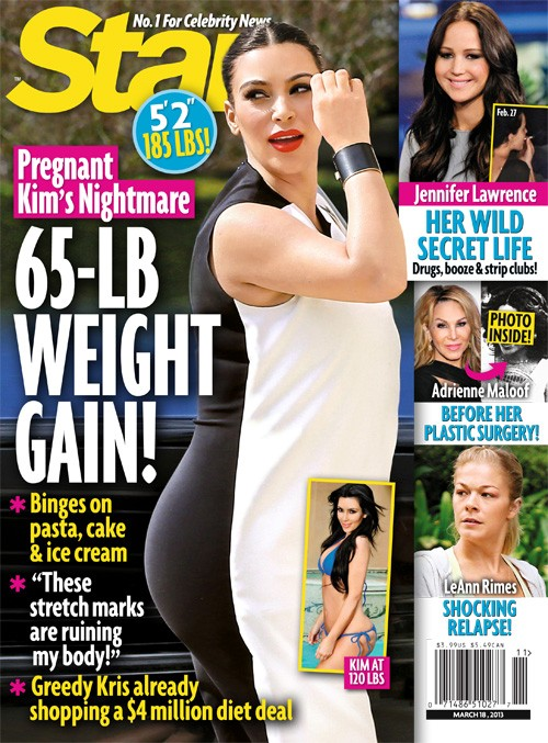 Kim Kardashian's Pregnancy Nightmare: She Has Gained 65 Pounds!