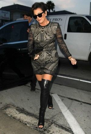 51720171 Celebrities on a night out at Craig's in West Hollywood, California on April 23, 2015. Celebrities on a night out at Craig's in West Hollywood, California on April 23, 2015.  Pictured: Kris Jenner FameFlynet, Inc - Beverly Hills, CA, USA - +1 (818) 307-4813