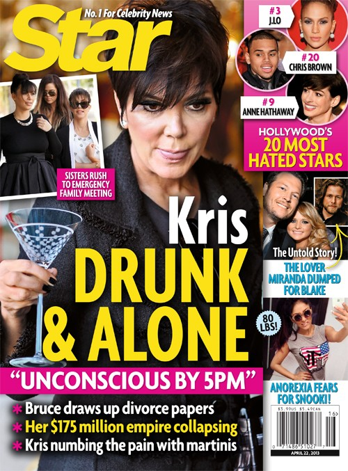 Kris Jenner Was Found Drunk, Unconscious & Alone - Report