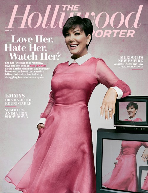 Kris Jenner Covers The Hollywood Reporter: Talks Kanye West And Kim Kardashian Wedding (PHOTO)
