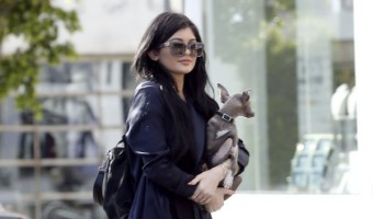 Kylie Jenner And Her Dog Out Shopping At Fred Segal