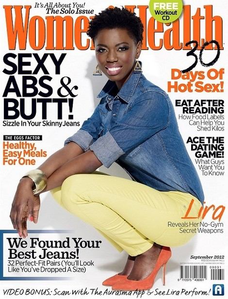 Singer/Songwriter LIRA Covers September 2012 Women's Health Magazine South Africa