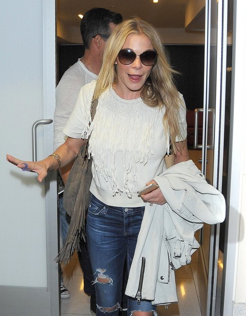LeAnn Rimes & Family Departing On A Flight At LAX