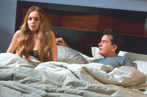 Lindsay Lohan Refuses To Kiss Charlie Sheen  Still Gets $100,000