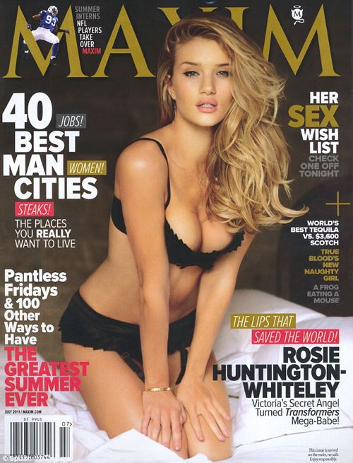 Rosie Huntington-Whiteley Smolders For Maxim – July 2011