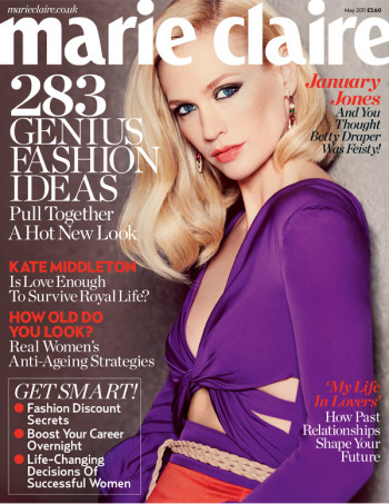 January Jones - Marie Claire UK 2011 Photos