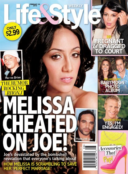 Melissa Gorga Accused Of Cheating On Joe Gorga