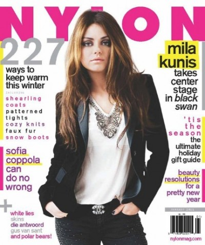 'Black Swan'  Mila Kunis Covers Nylon