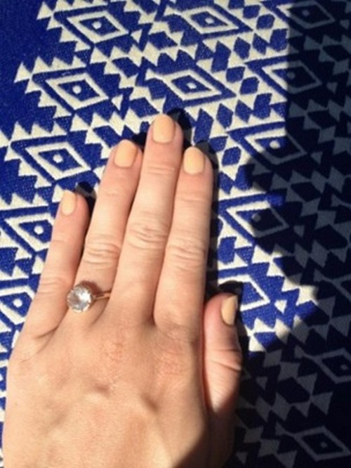 Is This Miley Cyrus Engagement Ring? (Photo)