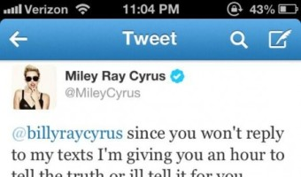 Miley Cyrus Threatens Her Father Billy Ray Cyrus (PHOTO)
