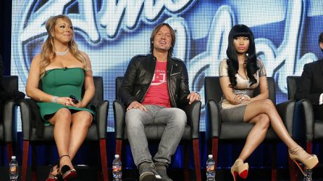 Nicki Minaj and Mariah Carey American Idol conference