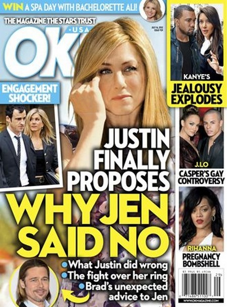 Justin Theroux Proposes and Jennifer Aniston Says NO WAY!