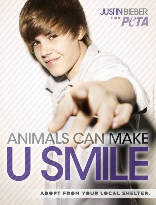 Justin Bieber NEW PeTA Ad