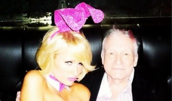 Paris Hilton Celebrates Easter With Hugh Hefner At The Playboy Mansion (Photo)