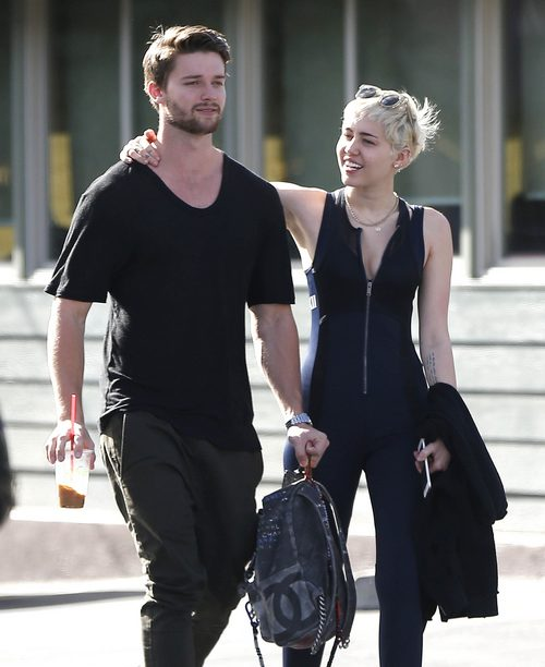 Semi-Exclusive... Miley Cyrus & Patrick Schwarzenegger Stop By Hugo's Tacos