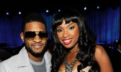 Usher and Jennifer Hudson
