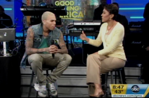 WATCH: Chris Brown Goes Ballistic – GMA Interview – Video