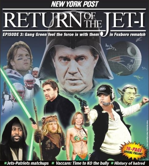 Bill Belichick is Darth Vader – Star Wars Jets – Patriots Poster (Pure Comedy)