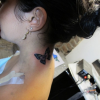 Vanessa Hudgens Neck Tattoo Photos