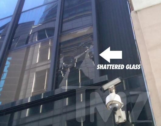 Chris Brown on GMA  - Smashed Window