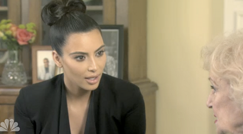 Kim Kardashian Warns Betty White: Stay Away From Kanye West