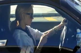 Lindsay Lohan Caught Texting While Driving – Video