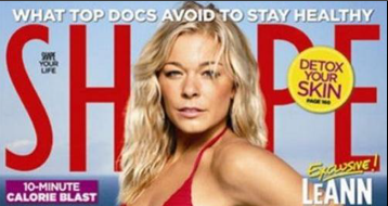 LeAnn Rimes Shape Cover - Red Bikini