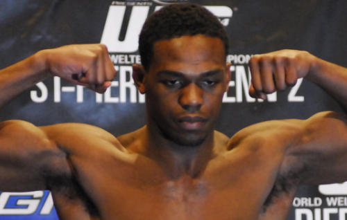 "UFC 128: Jon ""Bones"" Jones Captures Robber Pre-Fight"