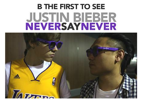 Justin Bieber Never Say Never Sneak Preview