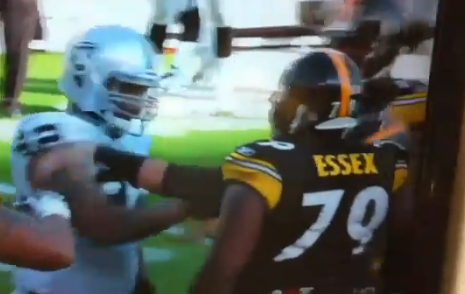 Ben Roethlisberger Punched By Raiders&#8217; Richard Seymour -VIDEO