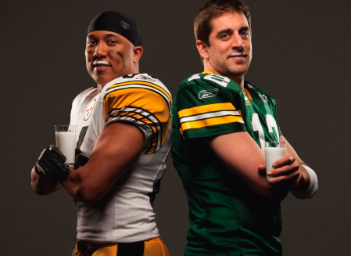 Hines Ward and Aaron Rogers Got Milk? Super Bowl Ad