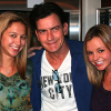Charlie Sheen and his goddesses - Natalie Kenly and Rachel Oberlin