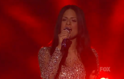 American Idol Top 11: Pia Toscano Channels Celine Dion For Elton John Night &#8211; Video