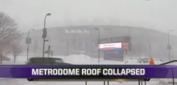Metrodome Collapsed