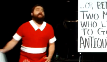 Zach Galifianakis Is Orphan Annie For SNL – VIDEO