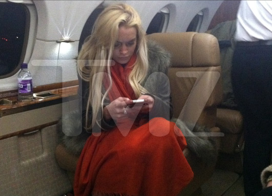 Lindsay Lohan on Private Jet