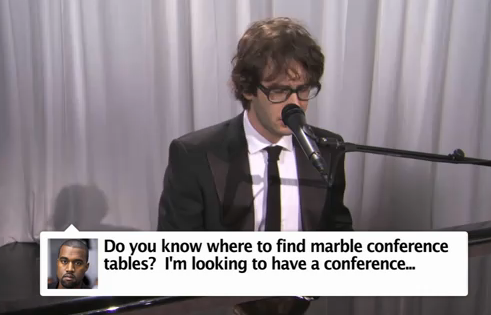 Josh Groban Sings Kanye West Tweets on Jimmy Kimmel &#8211; HILARIOUS VIDEO