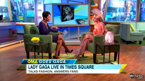 Lady Gaga on Good Morning America Dressed Like a Condom – Photos, Video