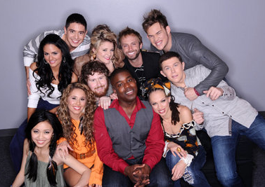 American Idol Top 11 Group Picture - 2011