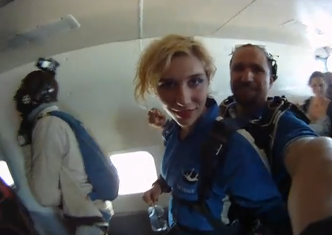 Kesha Skydiving in Australia