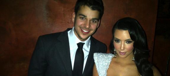 Kim Kardashian Wears Boobie Dress With Rob Kardashian on NYE