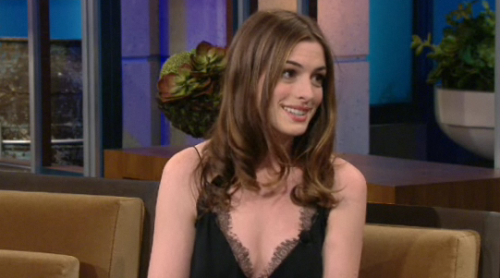 Anne Hathaway on Leno