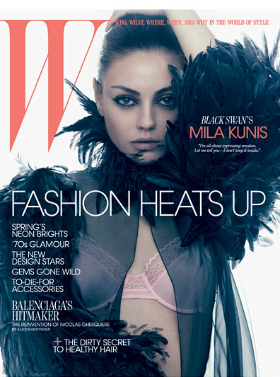 Mila Kunis is Seriously Sexy For W Magazine – Photos