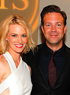 January Jones and Jason Sudekis