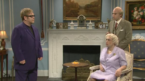 SNL: Elton John 'Visits The Queen' VIDEO