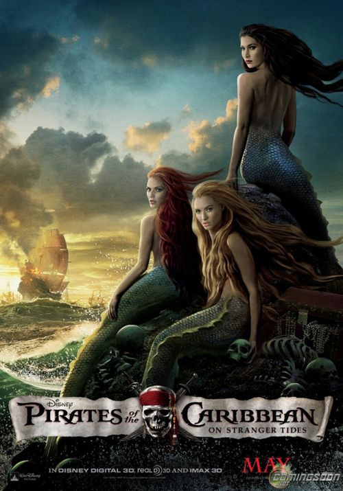 NEW: 'Pirates of the Caribbean: On Stranger Tides' Mermaids Poster