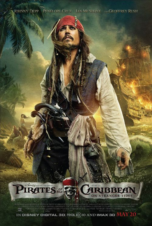 Pirates of the Caribbea: On Straner Tides : One-Sheet