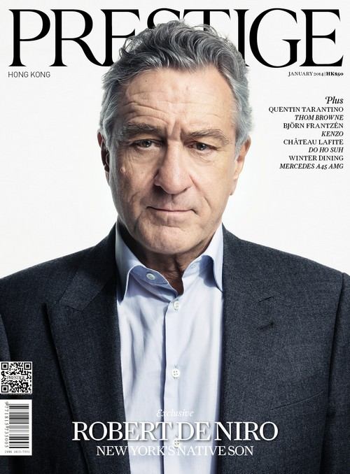 Prestige Hong Kong January 2014 - Robert De Niro Cover