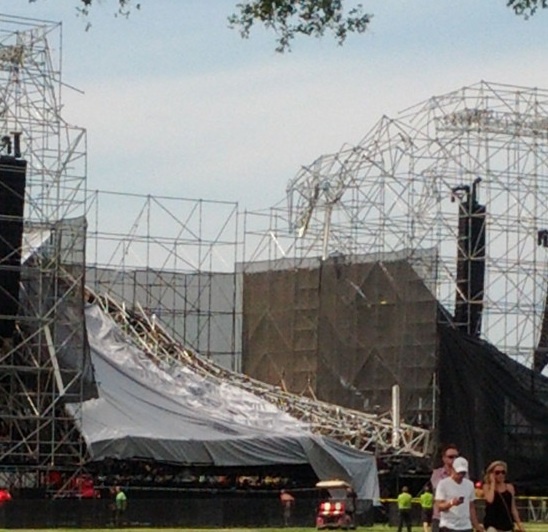 Radiohead Stage Collapses In Toronto One Person Dead