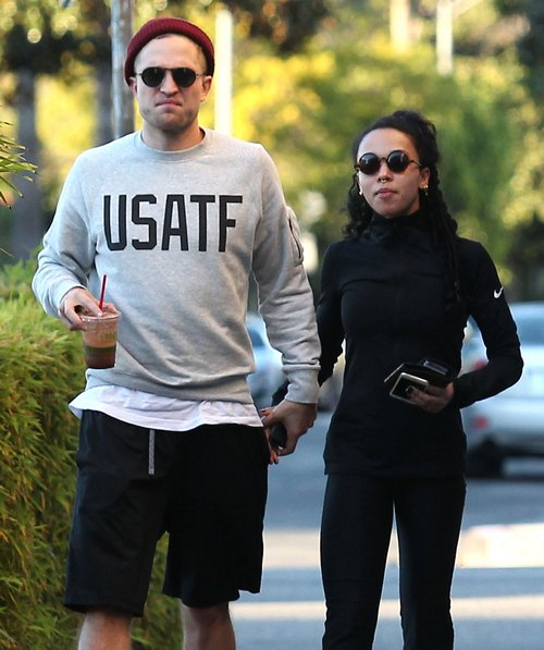 Exclusive... Robert Pattinson & FKA Twigs Out For Lunch IN LA